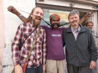 When you stop for chai, you'll meet some interesting folk.  Bikaner, Rajhastan, India