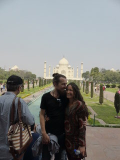Jane and I at the Taj Mahal earlier in '15