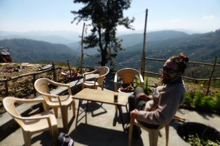 One of my favourite spots for a chai.  Baba Cake, up in Kasar Devi, Himalayas, India