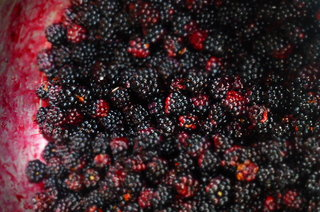 Blackberries.  You can't escape them in Autumn!