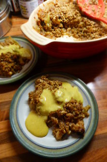 The Prequel (?)  - Windfall Apple and Oat Crumble with lashings of custard