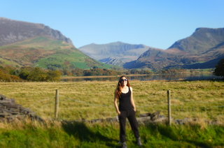 Walking near Trigonos, stunning views of Snowdon