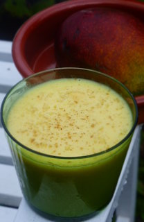 Mango and Coconut Lassi - a taste of tropical India in rural, autumnal Wales