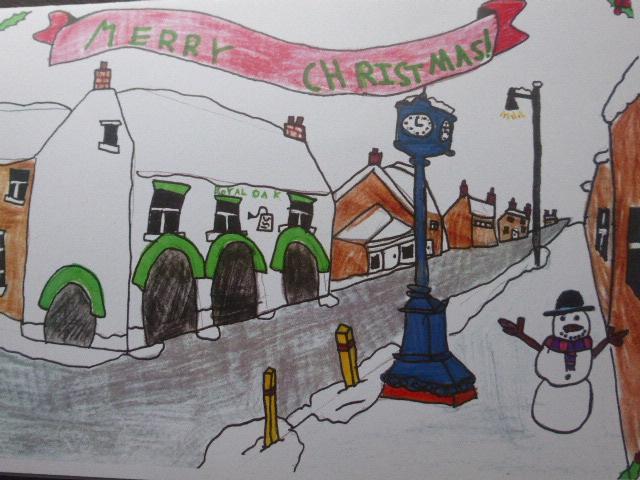 MERRY CHRISTMAS everyone! (Drawn by Jane's niece Martha)