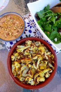 Roasted Lebanese Cauliflower with Muhammara