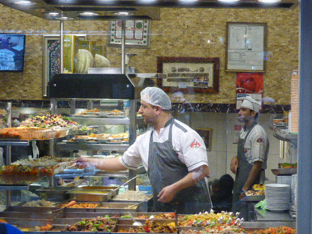 One of our favourite 'Lokantasi's' In Istanbul. Cheap and filling with loads of veggie options.