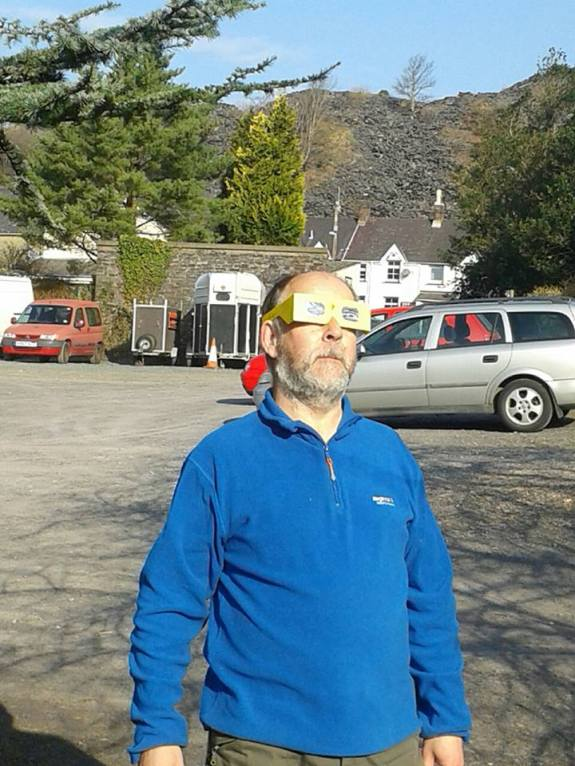 My favourite picture of Holger - observing the 2015 solar eclipse