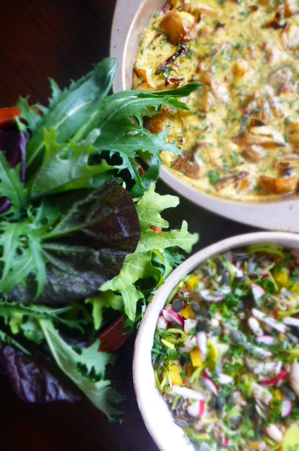 Vegan frittata - ideal and super nutritious Spring lunch