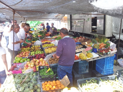Puerto Mazarron market in full swing