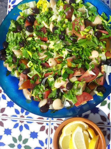 Butter Bean, Lemon and Black Olive Salad