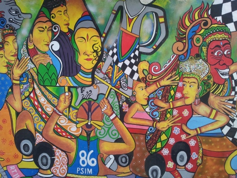 Indonesians are amazing artists, musicians and pretty handy with a spray can