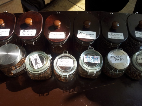 Some many Indonesia varieties to choose from, freshly ground to order